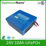 paquete de la batería del ion LiFePO4 del litio de 24V 10A para la bici eléctrica