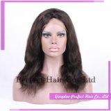 L'usine fournissent la perruque transparente pure de lacet de cheveux humains de 100%