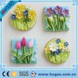 Магнит холодильника красивейшей и горячей смолаы цветка сбывания форменный магнитный