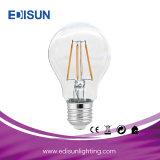 Lampadina 4W 6W 8W E27 B22 A60 del LED con la lampadina di vetro del filamento dell'alloggiamento LED