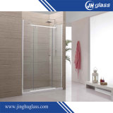 6-12mm 부드럽게 하는 산성 식각 또는 모방된 스테인리스 슬라이드 유리 샤워 문