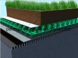 Scheda bianca/nera di drenaggio per i sistemi d'impermeabilizzazione del tetto verde
