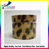 Leopard poudre Boîte ronde bouffée d'impression