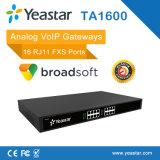 16 Rj11 FXS 운반 아날로그 VoIP 게이트웨이 SIP ATA 게이트웨이