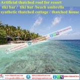 Met stro bedekt het Synathetic Met stro bedekte Dak Bali Kunstmatig Hawaï Toevlucht van de Maldiven van het Plattelandshuisje van de Staaf Tiki de Hut Met stro bedekte