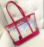 여름 여자 형식 투명한 PVC 선전용 운반물 핸드백 (BDM021)