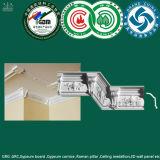 La decoración interior del techo de escayola yeso moldeado cornisa Coving
