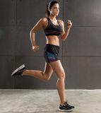 Señoras atractivas del Yoga sublimación de alta calidad cuatro vías se extienden Gimnasio usar pantalones cortos sin costura