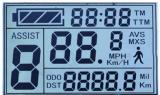 Stn Höhenruder LCD-Bildschirmanzeige mit blauem Hintergrund