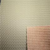 Tecidos sintéticos artificiais de PU em imitação de couro com relevo para Panel-Block Falso