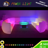 Colorful Rechargeable Bar Furniture Ensembles de canapés en plastique LED