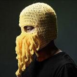 유일한 낙지 가면 Handmade 뜨개질을 하는 뜨개질을 한 겨울 모자
