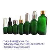 Huile essentielle flacon compte-gouttes en verre vert 200ml