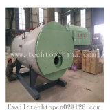 Horizontal 8t / H 3 Pass Wet Back Fire Tube Steam Boiler