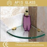 浴室の棚のための鉛筆の端のゆとりの和らげられたか、または強くされたガラス