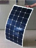 Panneau solaire semi flexible solaire de module de Sunpower 100watt picovolte d'usine pour le toit