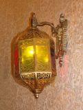 Pw 19302 유리제 장식을%s 가진 구리 벽 램프