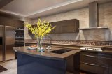 Gabinete de cozinha de madeira Yb1707042 da laca nova do standard alto do projeto