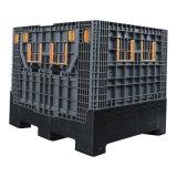 Для тяжелого режима работы складной Большой пластмассовый контейнер с крышкой