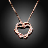 Горячая продажа ювелирных украшений моды 18k сердце подвесной бриллиантовое ожерелье закрывается золото и золотые ожерелья