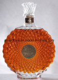 ワイン、アルコール飲料のためのフリントガラスのウィスキーのブランデーのXoの卸し売り空の円形の極度のびん