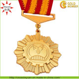 O logotipo personalizado e o tamanho da fita de metal Medalha de adjudicação