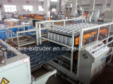 Tuile de toiture de trapèze de PVC faisant l'extrusion glaçée par machine de tuile rayer 880mm 1050mm