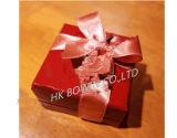 Saco de papel da cor luxuosa popular com uma caixa de presente da fita