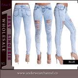 2016 heißer Verkaufs-Frauen-Form-Baumwollspandex-dünne Jeans (TXXL232)