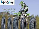 Pneu elevado da motocicleta da borracha natural dos por cento com teste padrão popular (3.25-18)