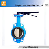 Ductile Wafer Flange Iron Cast Iron Material Butterfly Valves