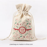 La promotion du coton Sac avec lacet de serrage pour cadeau de Noël