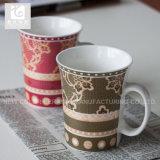 Het nieuwe Embleem van de Mok van de Koffie van China van het Been Ceramische 11oz Company of Wit Lichaam
