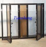 Guichet en aluminium personnalisé de tissu pour rideaux de guichet en verre pour commercial et résidentiel