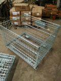 倉庫の鋼鉄折る記憶の金網のケージの容器