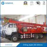 le camion drilling de profondeur de 300m a monté, plate-forme de forage rotatoire de puits d'eau de SIN300st