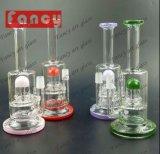 Tubulações de água de fumo de vidro da alta qualidade com cores americanas