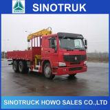 Sinotrukの貨物トラック336HP 10ton 12ton 10の荷車引きHOWOクレーントラック