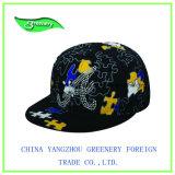 Gorra de béisbol llena de la impresión con la escritura de la etiqueta especial