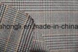 Os fios tingidos T/R Plaid tecido, 63%34%Poliéster Rayon 3%elastano, 250g/SM