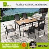 Tabela de jantar ao ar livre luxuosa Dgd6-0021 ajustado de Seater da mobília 6