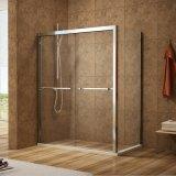 Salle de douche avec de dérivation de 8 mm de verre clair & Chrome Silver Al