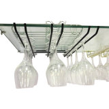 Estante de sequía hecho a mano vendedor superior del vidrio de vino del metal de la alta calidad