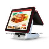"""Registratore di cassa capacitivo dello schermo di tocco del doppio di alta qualità Icp-Ew10sj9 per il sistema/supermercato/ristorante/al minuto di posizione (15 """" +9.7 """")"""