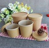 Kompostierbarer Nahrungsmittelwegwerfbehälter, zum zu gehen Packpapier-heiße Suppe-Cup