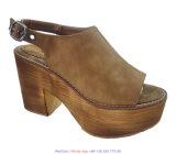 Pattini di legno di modo piano dei sandali del cuneo della piattaforma delle donne