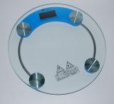 La pesée ronde en verre de la santé l'échelle de mesure