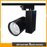 De zwarte/Witte LEIDENE van de MAÏSKOLF van het Merk CREE van de Huisvesting Ra>80 30W Lamp van het Spoor