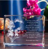 De Kubus van de Gravure van het Kristal van de bloem voor de Giften van Kerstmis