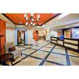 Das Holz, das Hotel-Schlafzimmer-Möbel-spätestes doppeltes Bett schnitzt, konzipiert Möbel für Hotel (KF TF 0011)